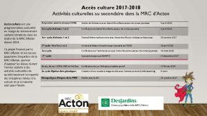 thumbnail of Aperçu de la programmation secondaire